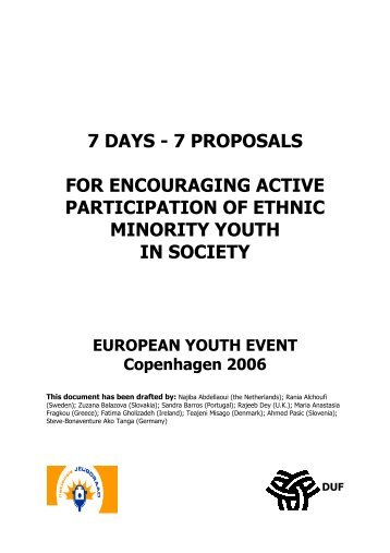 Youth Event - Issue Paper - Ny i Danmark