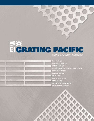 New Product Spotlight - Grating Pacific