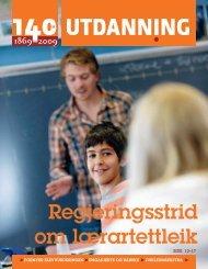 Utdanning nummer 18 2009 - Utdanningsnytt.no