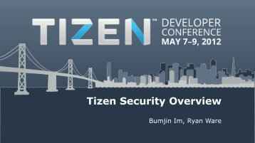 Tizen Security Overview