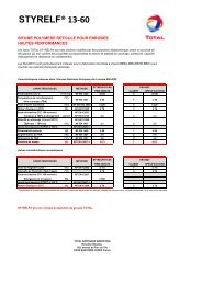 STYRELF® 13-60 - total raffinage marketing