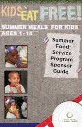 Summer Food Service Program Sponsor Guide - Second Harvest ...