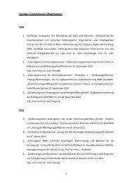 Vorträge und Schriftenverzeichnis - Krebsregister NRW
