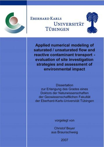 Applied numerical modeling of saturated / unsaturated flow and ...