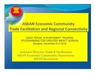 ASEAN Economic Community Trade Facilitation and Regional ...