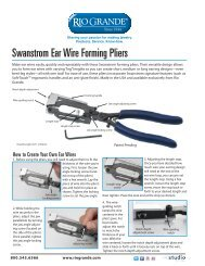 Swanstrom Ear Wire Forming Pliers - Rio Grande