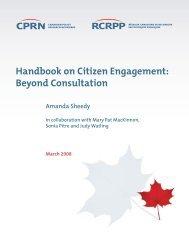 Handbook on Citizen Engagement: Beyond Consultation - SASANet