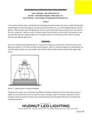 Choosing the Proper LED Lamp for Down Lighting ... - Hudnut