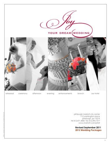 Revised September 2011 2012 Wedding Packages - Marriott