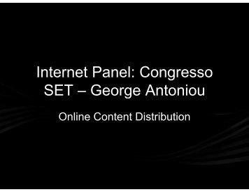 Internet Panel: Congresso SET – George Antoniou