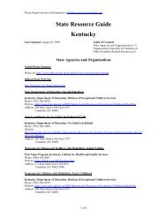 State Resource Guide Kentucky