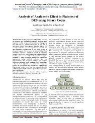 Analysis of Avalanche Effect in Plaintext of DES using Binary Codes