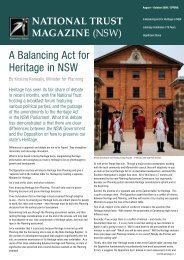 A Balancing Act for Heritage in NSW