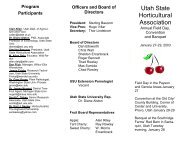 Program Participants - Utah State Horticultural Association Homepage