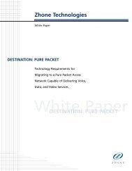 Destination Pure Packet White Paper - Zhone Technologies