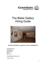 The Blake Gallery Hiring Guide - Gravesham Borough Council