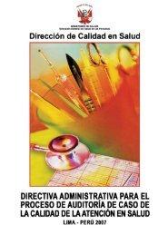 Dirección de Calidad en Salud - Bvs.minsa.gob.pe - Ministerio de ...