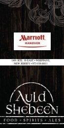 Auld Shebeen Cocktail Menu - Marriott