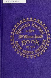 The book of the ancient and accepted Scottish rite of freemasonry ...