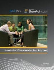 SharePoint 2010 Adoption Best Practices - Net@Work