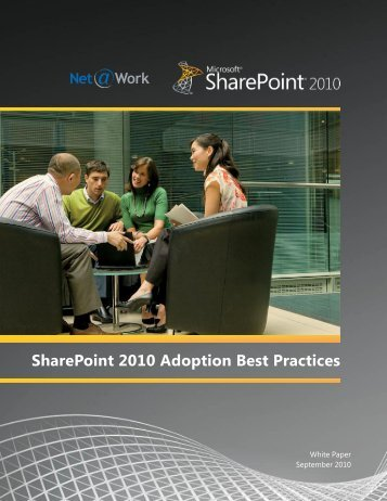 SharePoint 2010 Adoption Best Practices - Net@Work