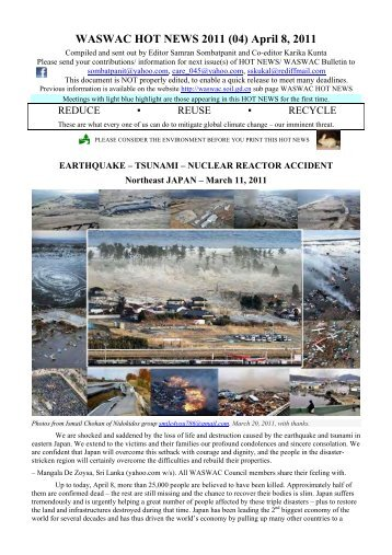 April 8, 2011 - World Association of Soil and Water Conservation