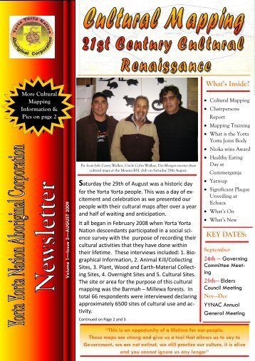 August 2009 - Yorta Yorta Nation Aboriginal Corporation