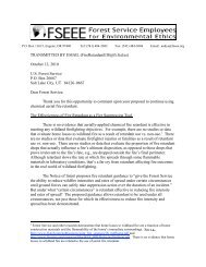 Fire Retardant Scoping Comments - Forest Service Employees for ...