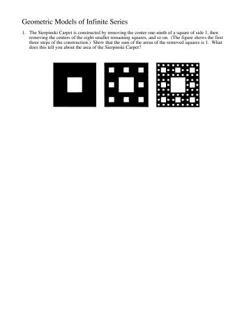 Geometric Models of Infinite Series