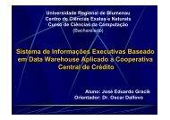 Sistema de Informações Executivas Baseado em Data Warehouse ...