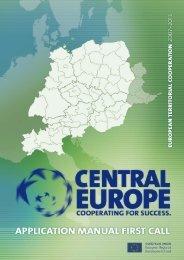 CENTRAL EUROPE Application Manual - Fondi Europei 2007-2013