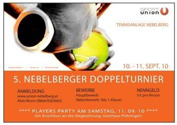 5. NEBELBERGER DOPPELTURNIER - Union Nebelberg