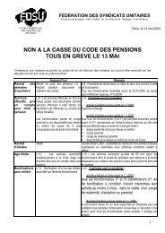 non a la casse du code des pensions tous en greve le 13 mai