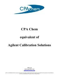 CPA Chem equivalent of Agilent Calibration Solutions - Cromlab