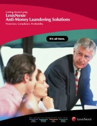 LexisNexis® Anti-Money Laundering Solutions