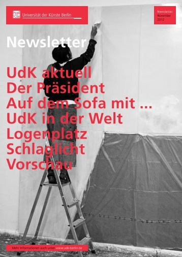 Universität der Künste Berlin - Newsletter - November 2012