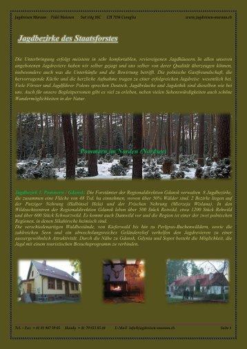 Pommern im Norden (Nordsee) - Jagdreisen Muraun