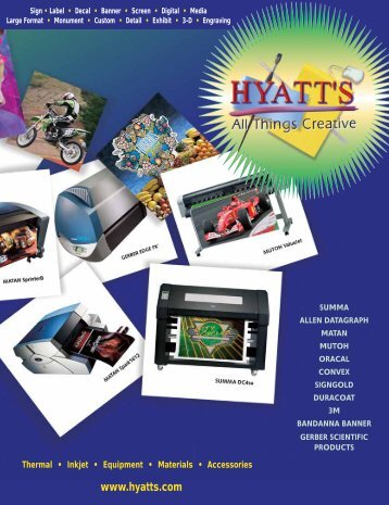 Thermal † Inkjet † Equipment † Materials † Accessories - Hyatt's