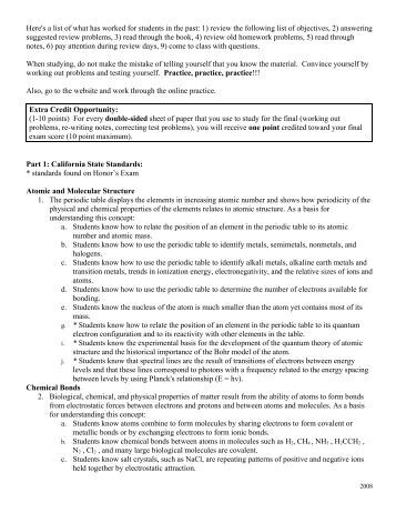gen chem study guide Student study materials  (commonly called the general chemistry study guide) this guide includes 113 pages of information in essentially three categories.