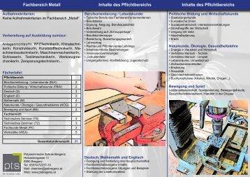 Metall - Polytechnische Schule Bregenz