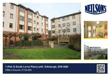 7 (Flat 3) South Lorne Place,Leith, Edinburgh, EH6 8QN Offers ...