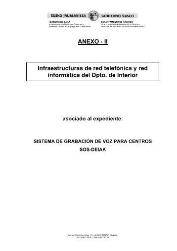 Anexo II - Departamento de Interior