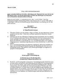 Polizeiliche Umweltschutzverordnung - Nußloch