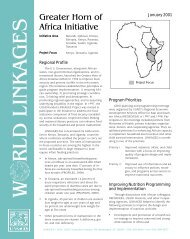 Greater Horn of Africa Initiative - Linkages Project