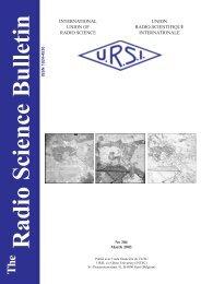 Radio Science Bulletin 304 - March 2003 - URSI