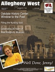 publisher's - Allegheny West Magazine