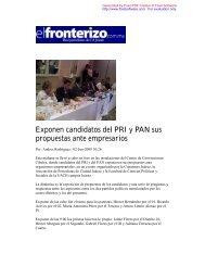 Exponen candidatos del PRI y PAN sus propuestas ... - Coparmex