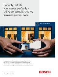 DS7220 V2/DS7240 - Bosch Security Systems