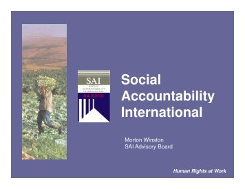Social Accountability International - ExpokNews