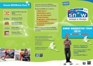 eMMI SNOWSTAR TOUR 2012 SKI RAce PARTy Emmi SNOWstar ...